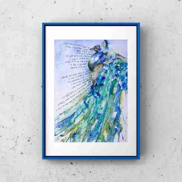 blue_peacock_framed